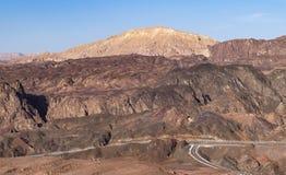 O Sinai do norte das montanhas de Eilat em Israel imagens de stock