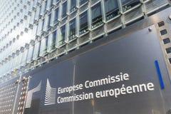 O sinal da Comissão Europeia fotos de stock royalty free