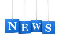 O sinal da notícia etiqueta o conceito Foto de Stock Royalty Free