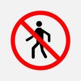 O sinal da passagem é proibido ilustração stock