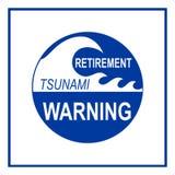 O sinal de aviso do tsunami da aposentadoria isolou-se ilustração royalty free
