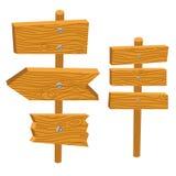 O sinal de madeira embarca a ilustração do vetor Imagem de Stock Royalty Free