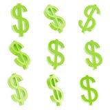 O sinal de moeda do dólar rende Fotografia de Stock