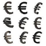 O sinal de moeda do Euro rende Fotos de Stock Royalty Free