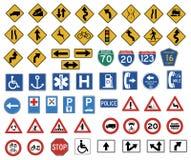 O sinal de tráfego grande   Foto de Stock Royalty Free