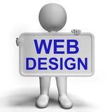 O sinal do design web mostra conceitos da faculdade criadora e da Web Imagem de Stock Royalty Free