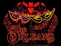 O sinal do hotel e do casino de Orleans Fotos de Stock Royalty Free
