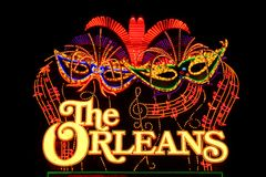 O sinal do hotel e do casino de Orleans Fotos de Stock