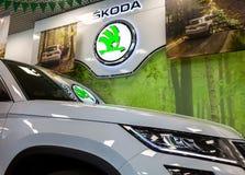 O sinal do negócio de Skoda Foto de Stock