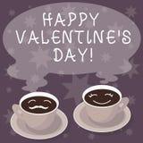O sinal do texto que mostra o Valentim feliz S é dia A foto conceptual quando os amantes expressam sua afeição com cumprimentos a ilustração stock
