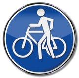 O sinal empurra por favor a bicicleta por favor Imagens de Stock