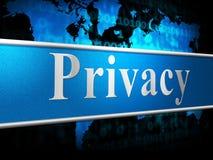 O sinal indicam a confidencialidade do secretismo e confidencial privados Fotografia de Stock Royalty Free