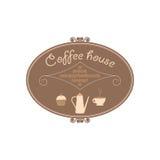O sinal para uma casa do café Fotografia de Stock Royalty Free