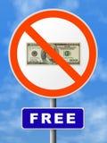 O sinal redondo livra Fotografia de Stock Royalty Free