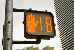 O sinal transversal mostra 18, Las Vegas Boulevard Imagem de Stock