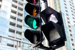 O sinal verde no passeio em Montreal imagens de stock