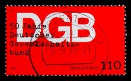 O sindicato, 50th aniversário da federação do alemão troca o serie das uniões, cerca de 1999 Foto de Stock Royalty Free
