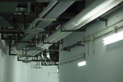 O sistema de ar-condição e de proteção contra incêndios Imagem de Stock