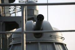 O sistema de armas próximo naval automático AK-630 com focinho descoberto closeup imagem de stock