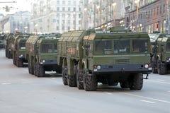 O sistema de mísseis balístico móvel de Iskander Foto de Stock Royalty Free