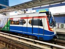 O sistema de transporte público de Banguecoque, BTS ou o Skytrain Foto de Stock Royalty Free