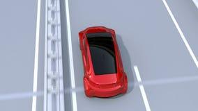 O sistema de travagem automático evita o acidente de viação do acidente de trânsito vídeos de arquivo
