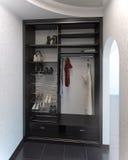 O sistema do armário do design de interiores de Salão, 3D rende Foto de Stock Royalty Free