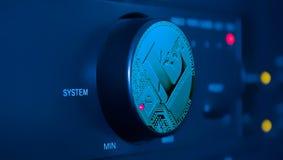 O sistema para controlar a mineração dos litecoins imagens de stock