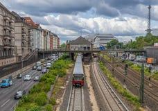 O sistema subterrâneo em Berlim foto de stock
