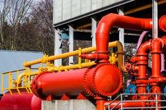 Sistema vermelho do tanque Foto de Stock