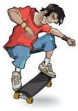 O skater executa uma isolação do truque Fotografia de Stock