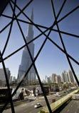 O skyskraper Burj Khalifa em Dubai Fotografia de Stock Royalty Free