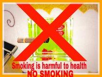 O slogan de fumo imagens de stock