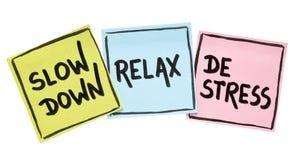 O Slow down, relaxa, conceito do de-esforço fotografia de stock royalty free