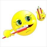 O smilie escova os dentes ilustração do vetor