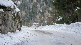 O snowplow apenas passou Fotos de Stock