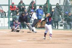 O softball 2019-III III das mulheres de SLU imagem de stock royalty free