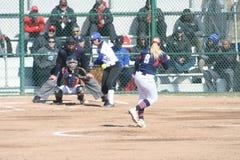 O softball 2019-IV IV das mulheres de SLU imagens de stock royalty free