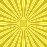 O sol abstrato dinâmico irradia o fundo - projeto cômico do vetor do teste padrão radial da listra ilustração royalty free