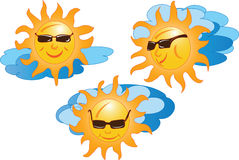 O sol com nuvens Imagens de Stock Royalty Free