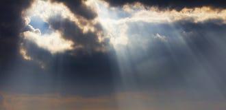 O sol de ajuste Imagens de Stock