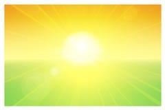 O sol e o horizonte Foto de Stock Royalty Free