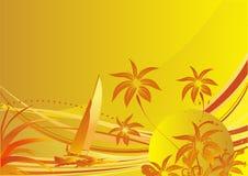 O sol e o mar Imagens de Stock