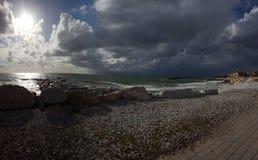 O sol e a tempestade Fotos de Stock
