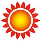 O sol em uma flor ilustração stock