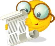 O sol feliz com um jornal - ilustração para as crianças Fotos de Stock Royalty Free