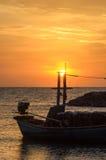 O sol mantém-se pelo mastro Fotografia de Stock