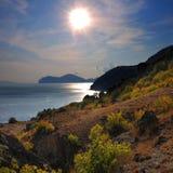 O sol no outono, setembro Fotos de Stock Royalty Free