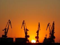 O sol no porto Imagem de Stock Royalty Free