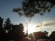 O sol no seu mais brilhante fotografia de stock royalty free